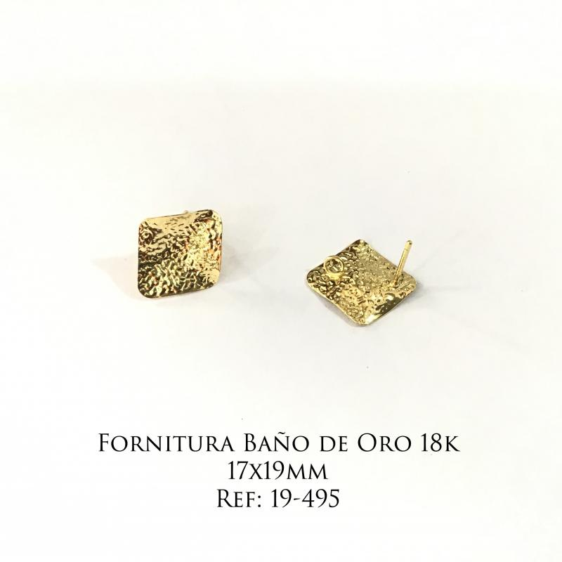 Fornitura Baño de Oro 18k - 17x19mm