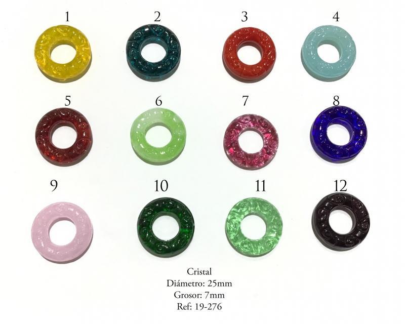 Cristal Redondo Labrado - Diámetro: 25mm Grosor: 7mm