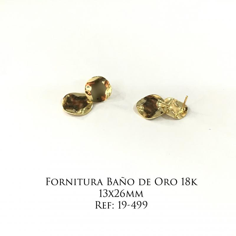 Fornitura Baño de Oro 18k - 13x26mm
