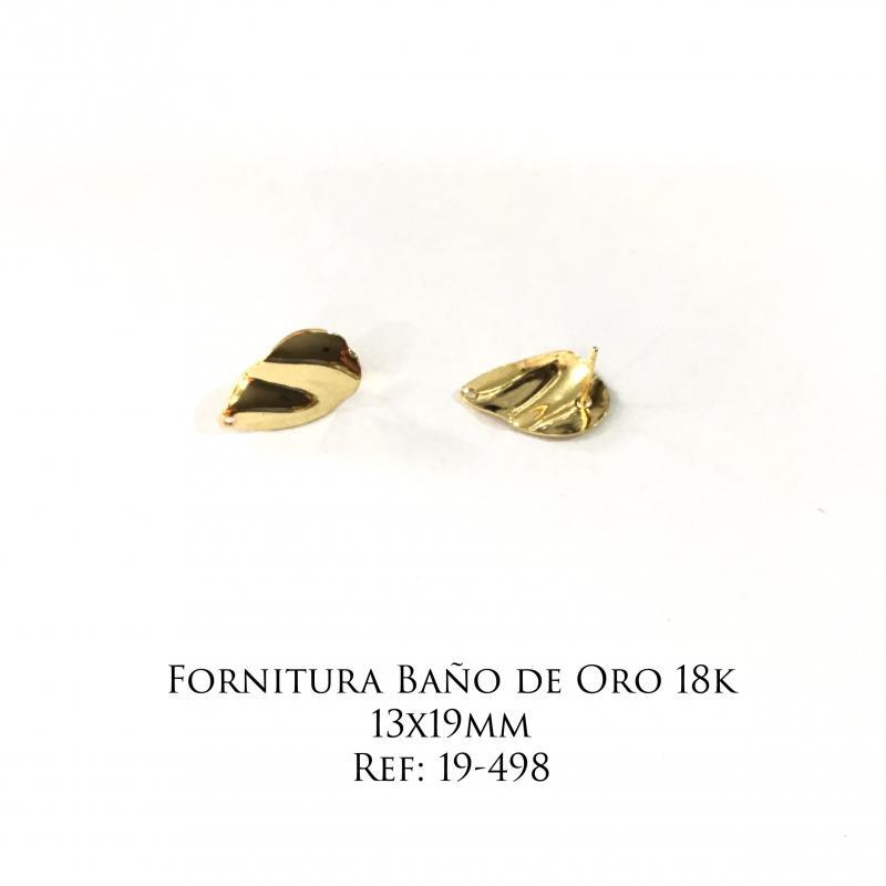 Fornitura Baño de Oro 18k - 13x19mm
