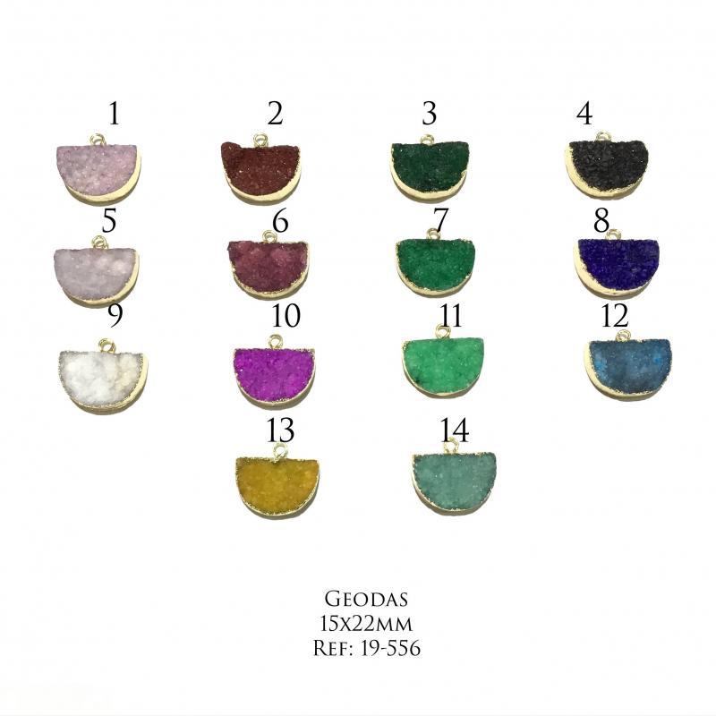 Geodas (Drusas) colores - 15x22mm