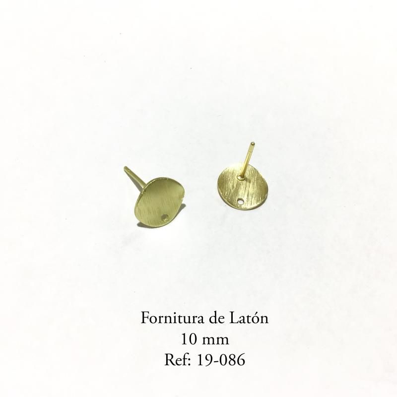 Fornitura de latón  - 10mm Piezas con baño en oro