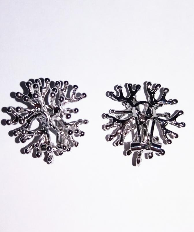 Fornitura de latón coral (x2)(pendiente) - 27 mm diametro aprox