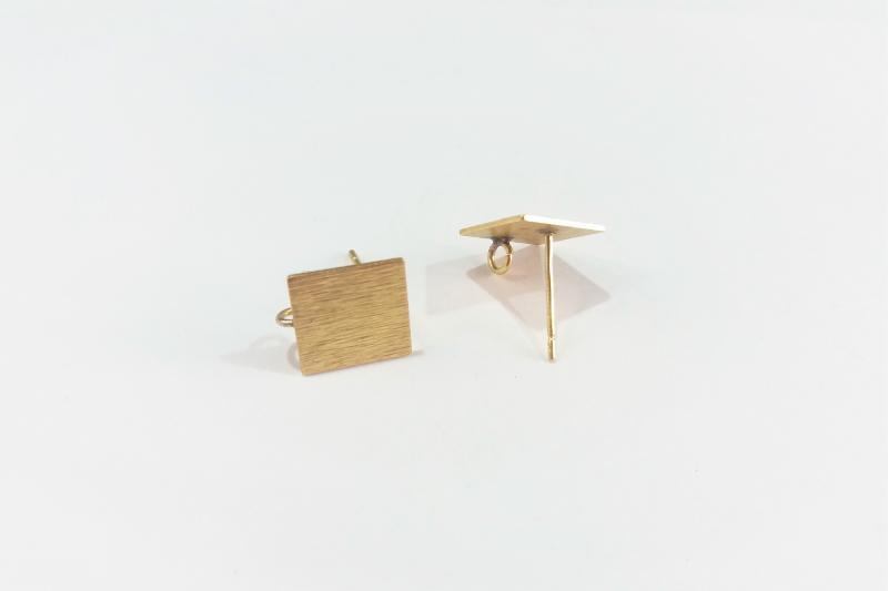 Fornitura de latón base cuadrado (pendientes)