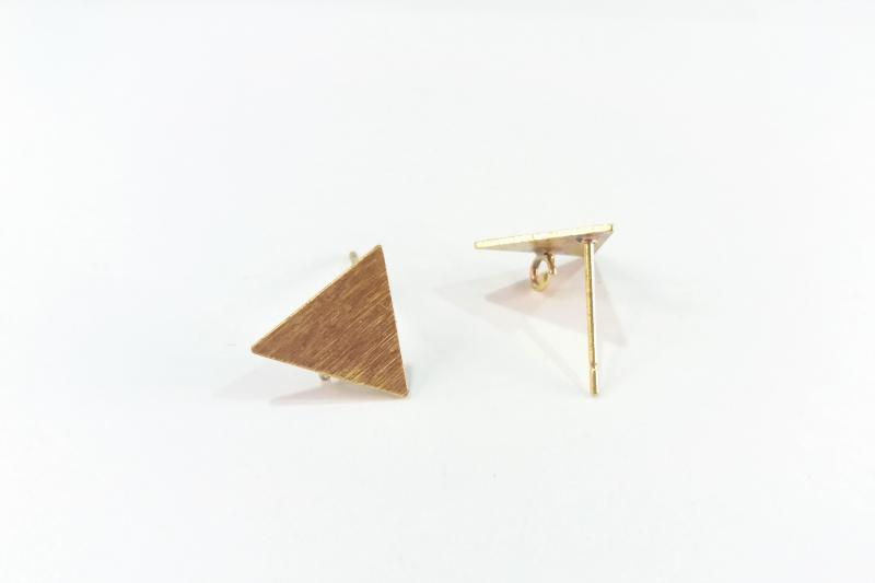 Fornitura de latón base triangulo (pendientes)