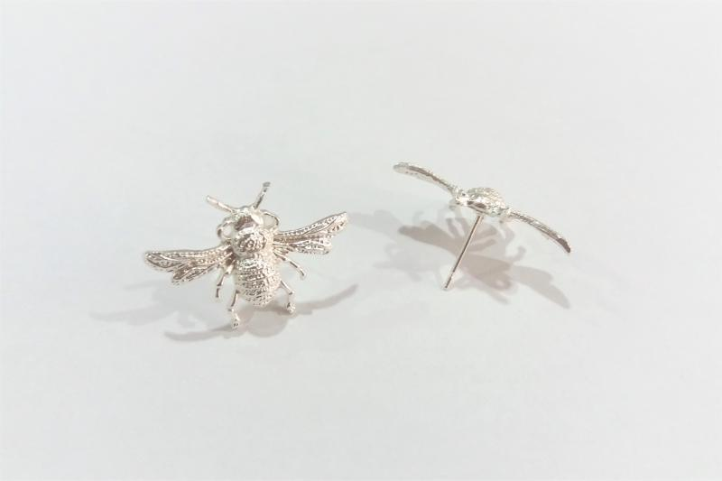 Fornitura de latón abeja (pendientes) - 19 x 27 mm
