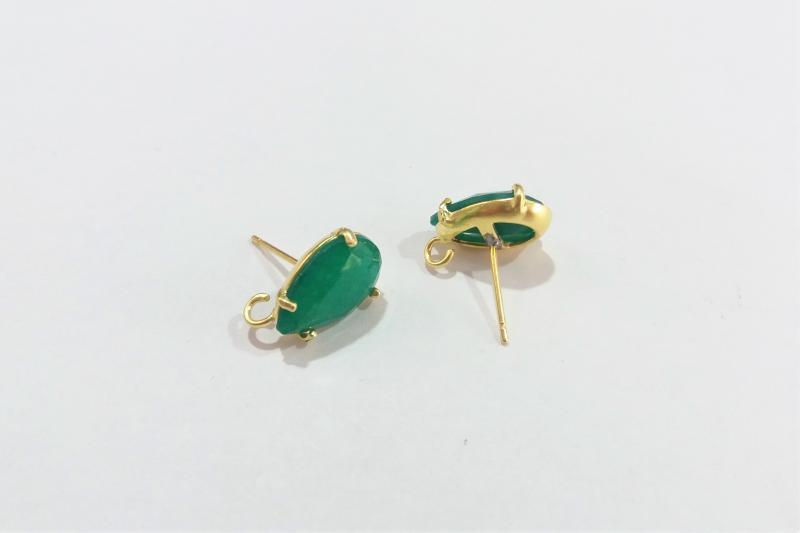 Base de Pendientes verde pequeño  - 14 x 10mm