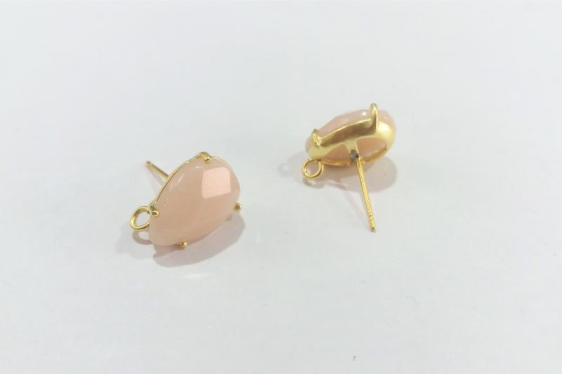 Base de Pendientes marfil pequeño - 14 x 10mm