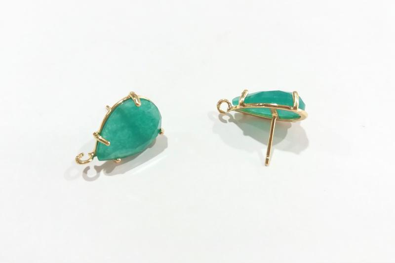 Base de Pendientes verde esmeralda