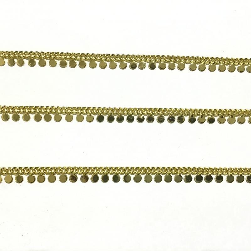Cadena de Latón Baño de Oro 18k - ROLLO 5 METROS Eslabón 3mm