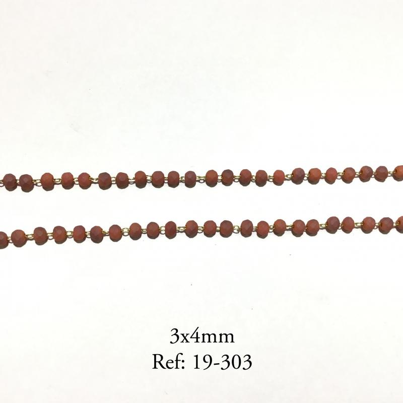 CADENA - PIEDRA MATE 3x4 MM (PRECIO POR METRO)