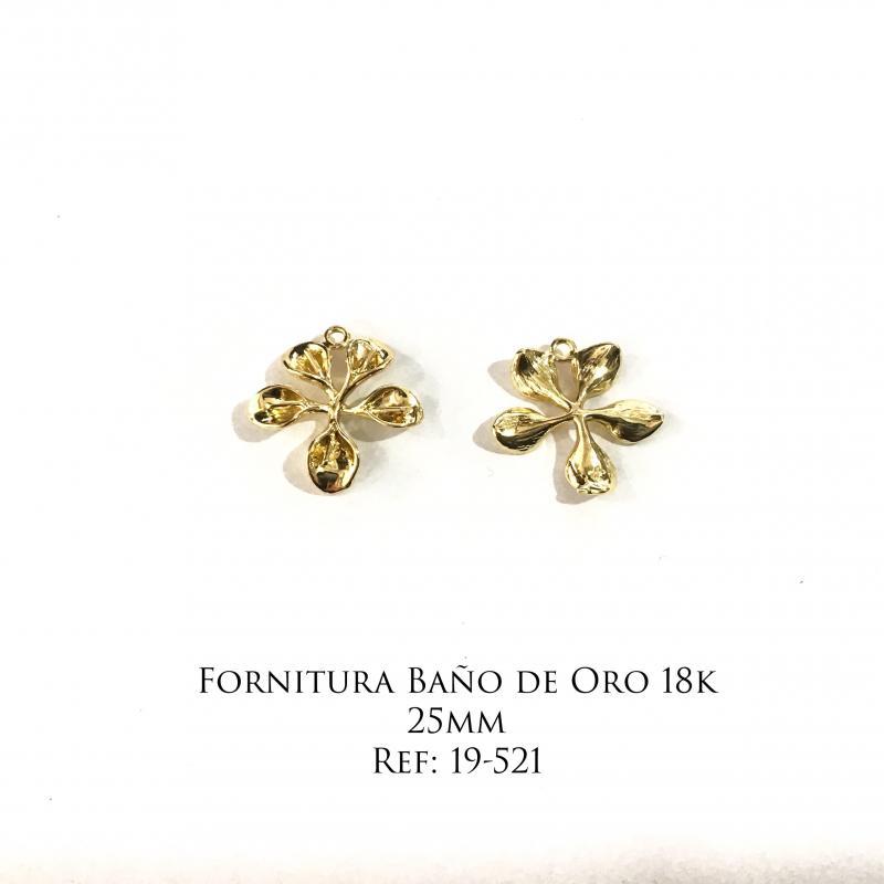 Fornitura Baño de Oro 18k - 25mm