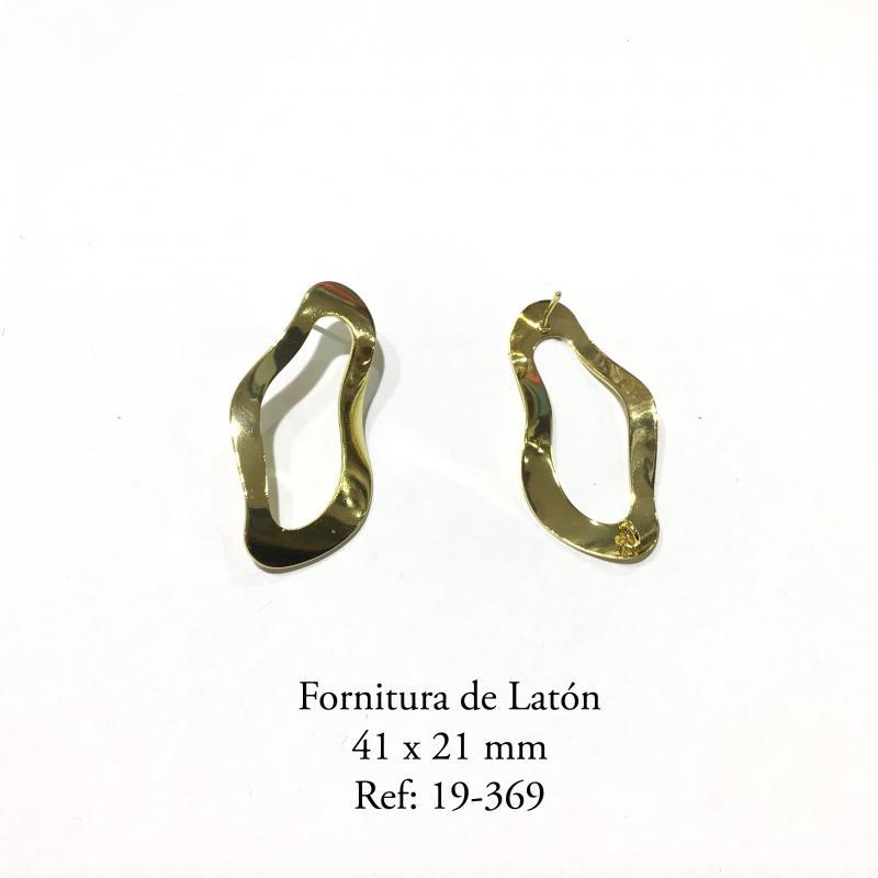 Fornitura de Latón  - 41x21 MM BAÑO DE ORO