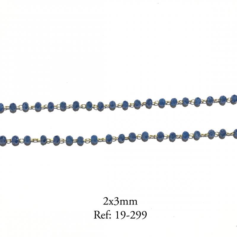 CADENA - PIEDRA 2x3 MM (PRECIO POR METRO)