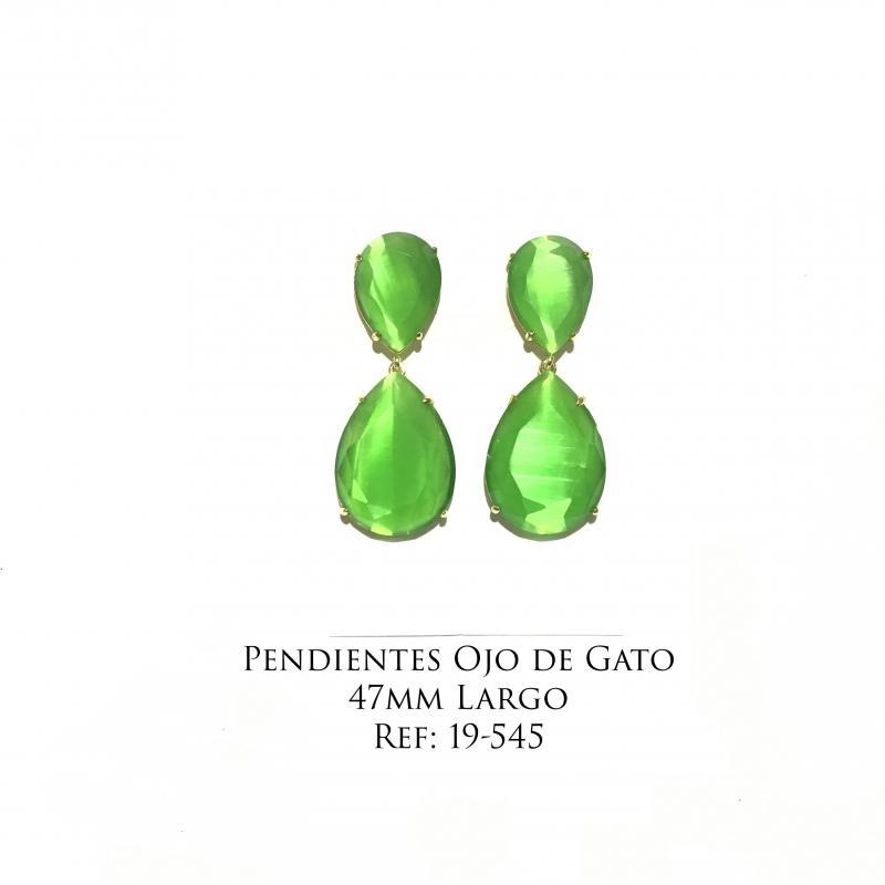 Pendientes Jade  - 47mm de largo