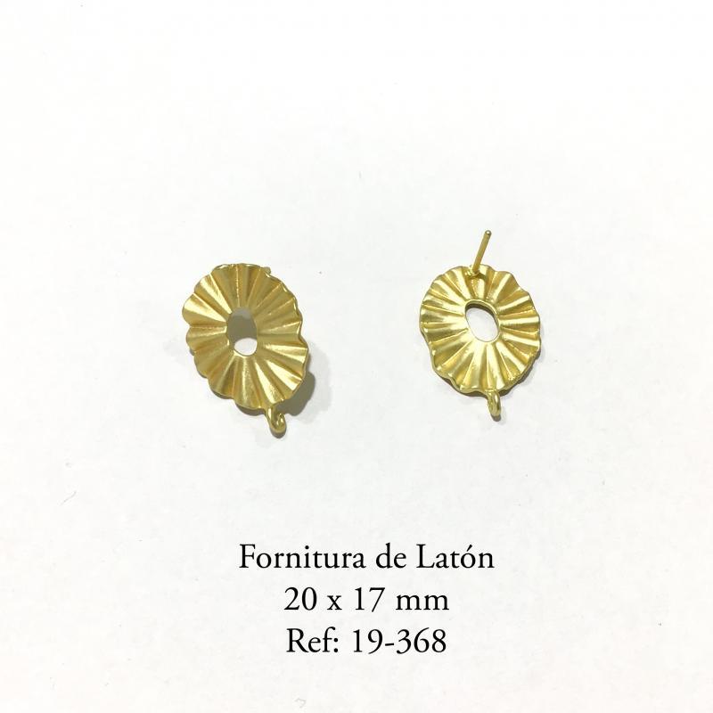 Fornitura de Latón  - 20x17MM  Baño en oro