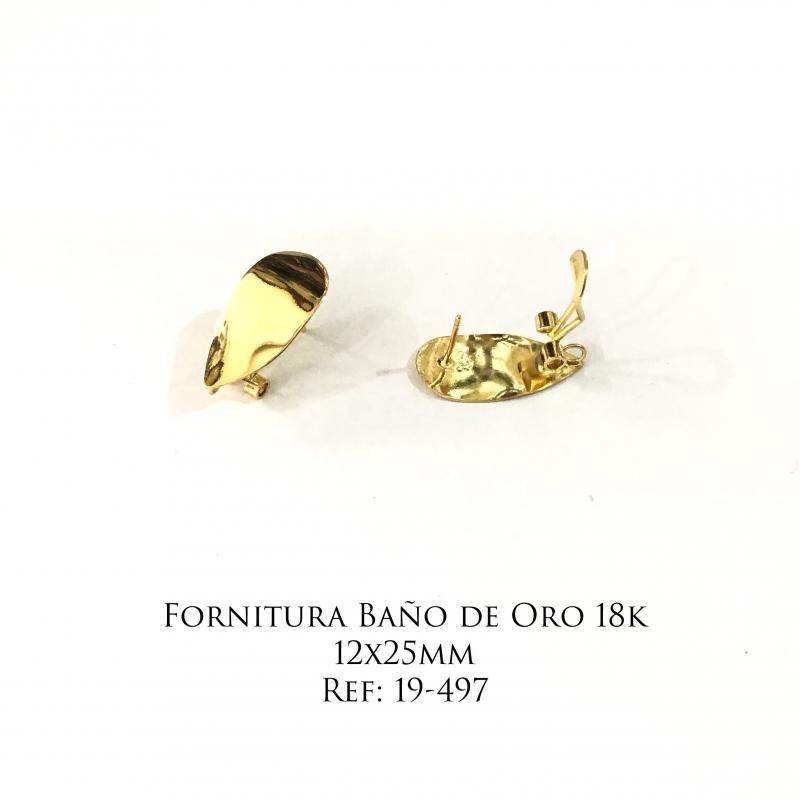 Fornitura Baño de Oro 18k - 12x25mm