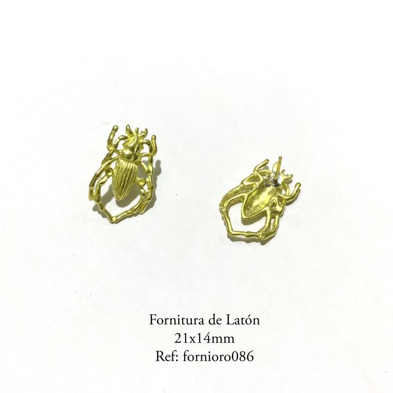 Fornitura de latón escarabajo(x2)(pendientes)