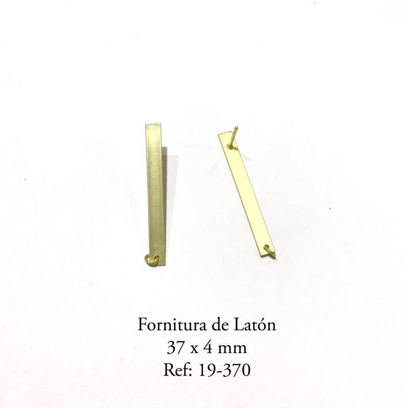 Fornitura de Latón  - 37x4 MM Baño en oro