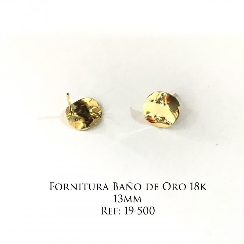 Fornitura Baño de Oro 18k - 13mm