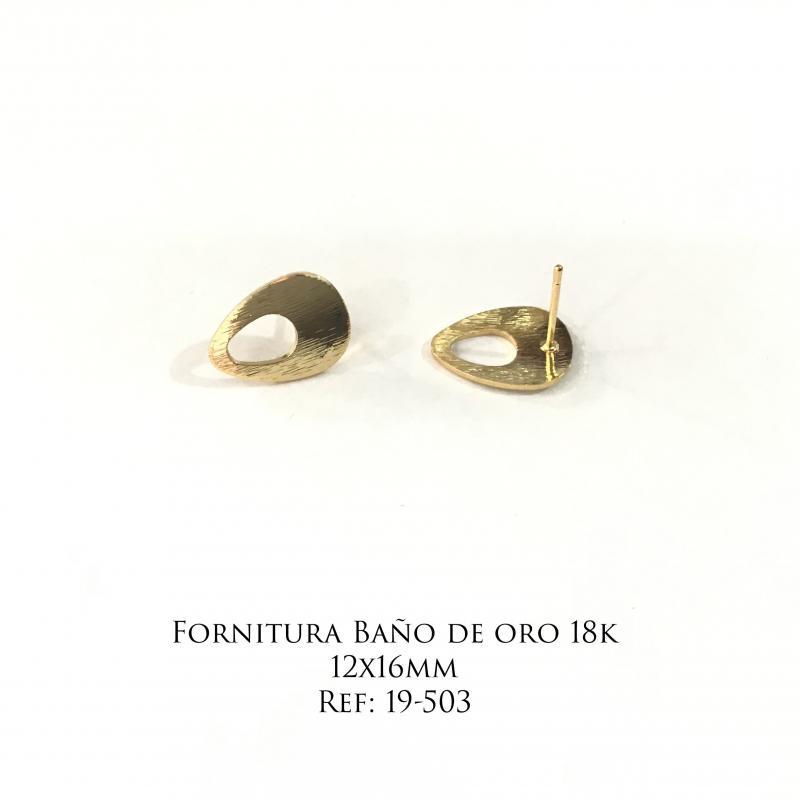 Fornitura Baño de Oro 18k - 12x16mm