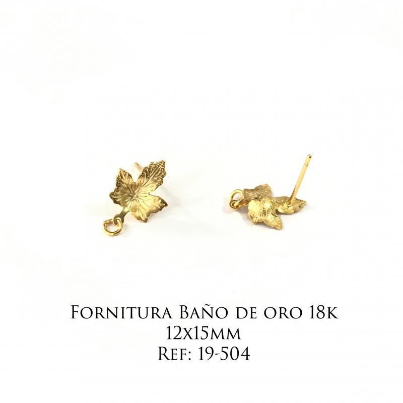 Fornitura Baño de Oro 18k - 12x15mm