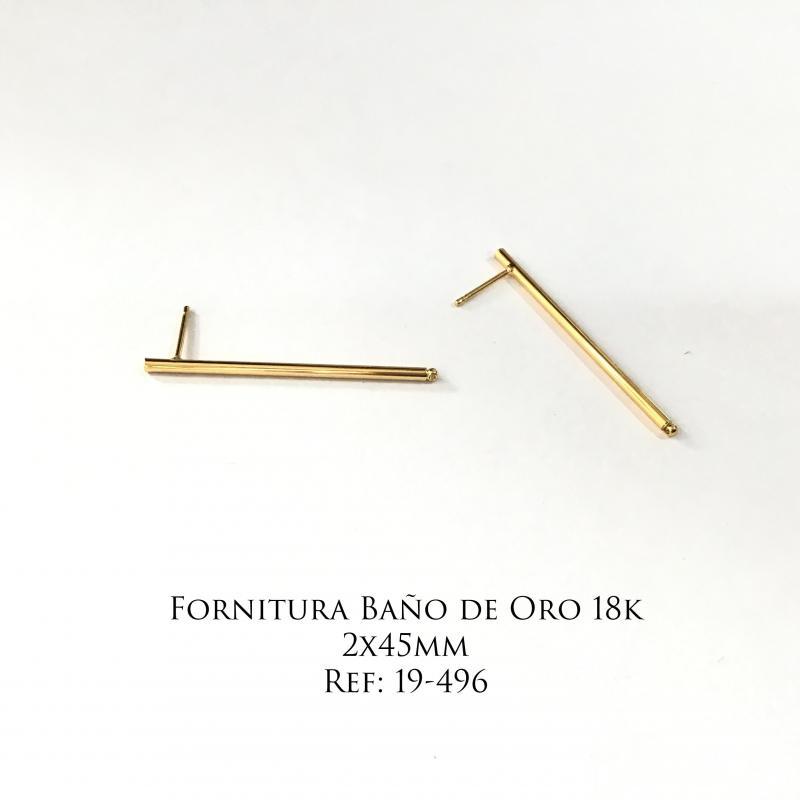 Fornitura Baño de Oro 18k - 2x45mm