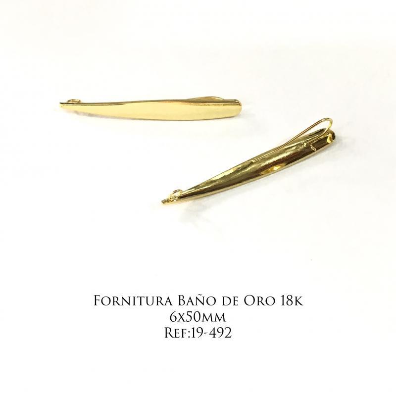 Fornitura Baño de Oro 18k - 6x50mm