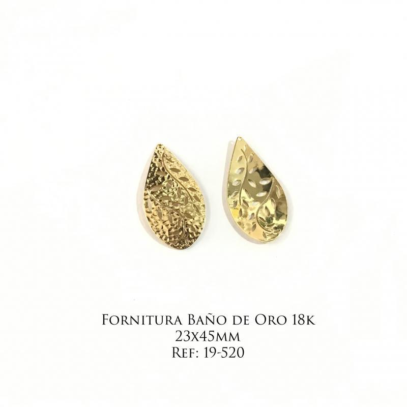Fornitura Baño de Oro 18k - 23x45mm