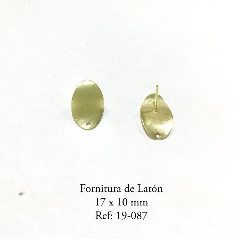 Fornitura de latón  - 17x10mm Piezas con baño de oro