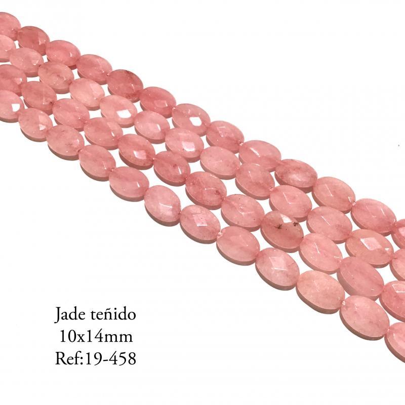 Jade teñido rosa