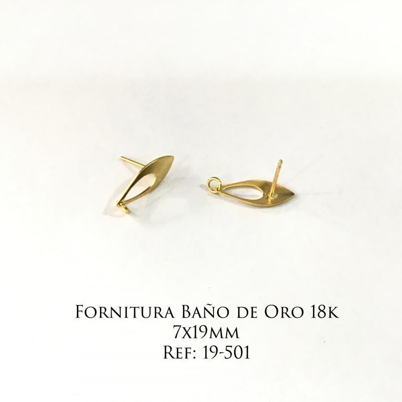 Fornitura Baño de Oro 18k - 7x19mm