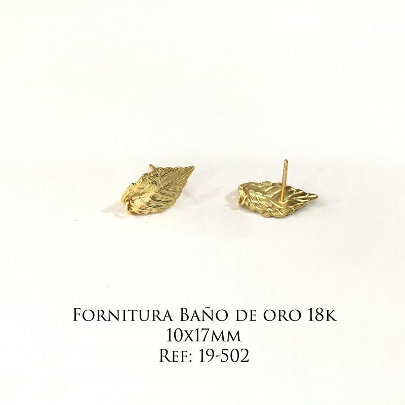 Fornitura Baño de Oro 18k - 10x17mm