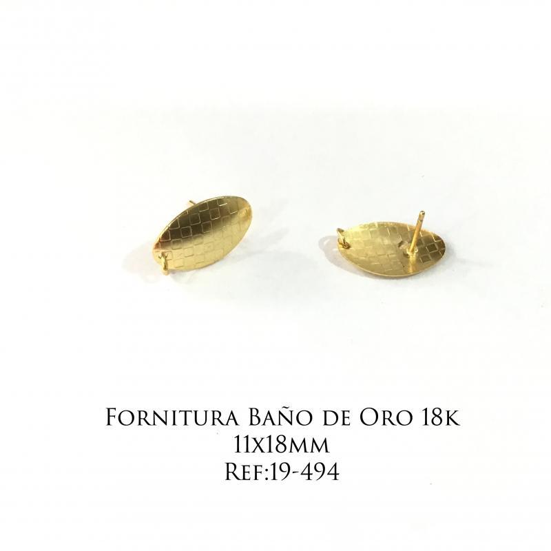 Fornitura Baño de Oro 18k - 11x18mm