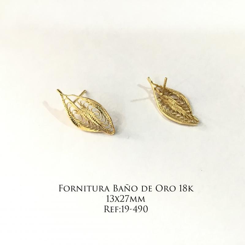 Fornitura Baño de Oro 18k - 13x27mm