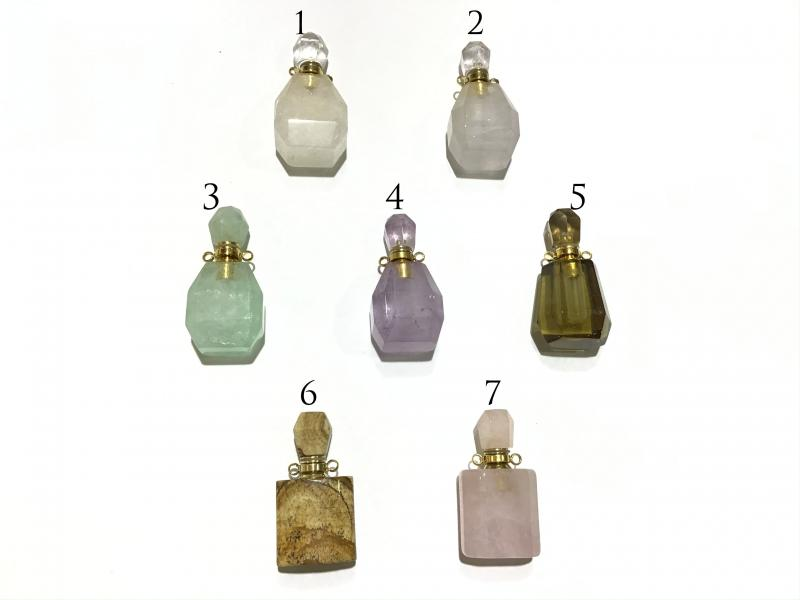 Perfumero Colgante de Piedra Mineral - 18x36mm NO incluye cadena