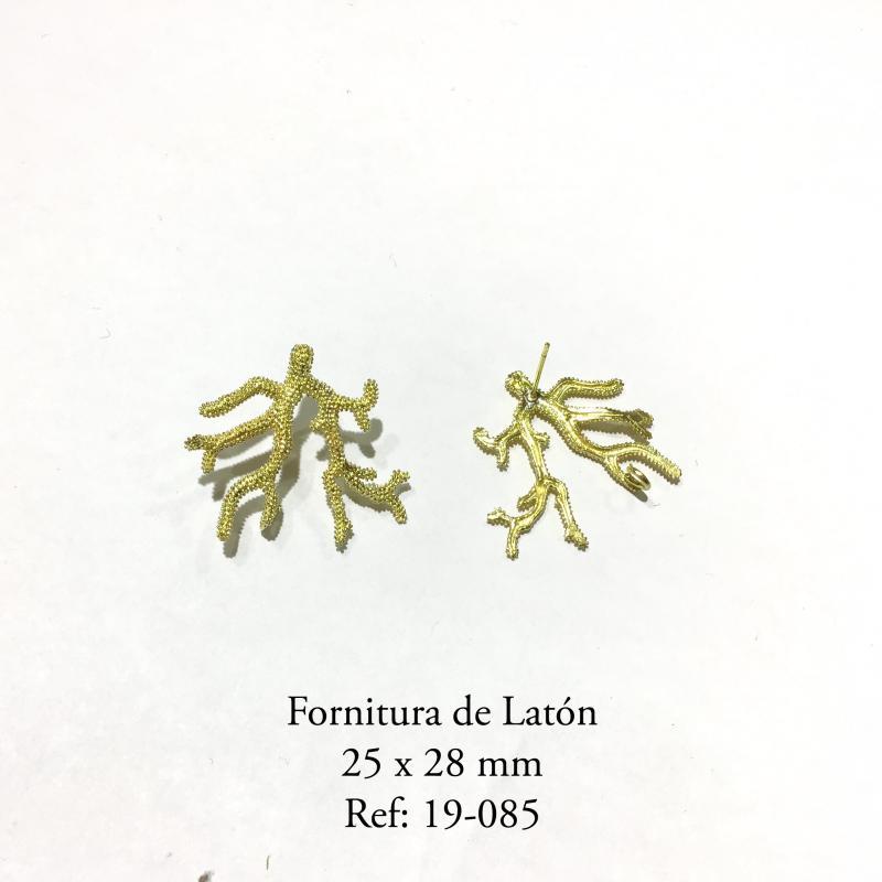 Fornitura de latón  - 25x28mm Pieza con baño en oro mate