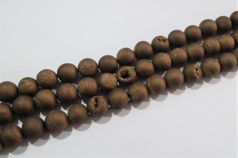 Piedra geoda marrón