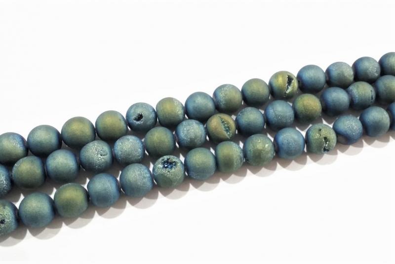 Piedra geoda azul con verde