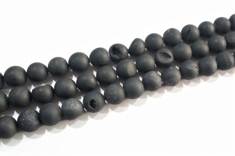 Piedra geoda negro