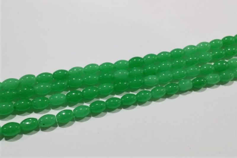 Piedra verde esmeralda 6x9mm
